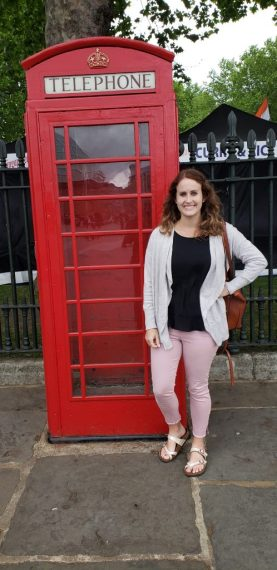 Emily at a Telephone Booth