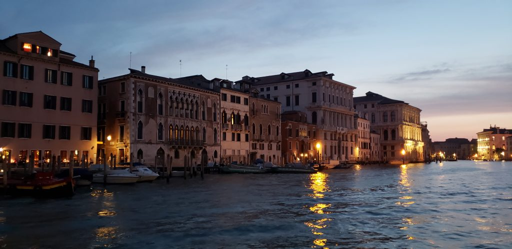 The Grand Canal at dusk