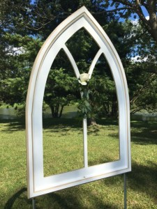 Farmington Lake white abbey windows