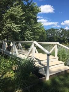 Farmington Lake footbridge