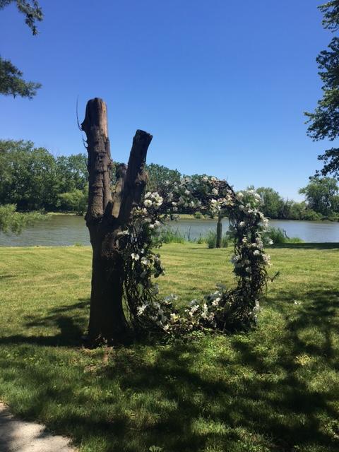 vintage garden wreath