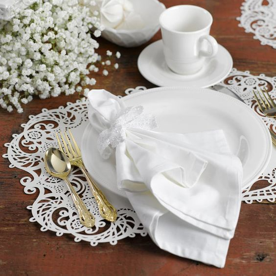 Laser cut wedding table placemat