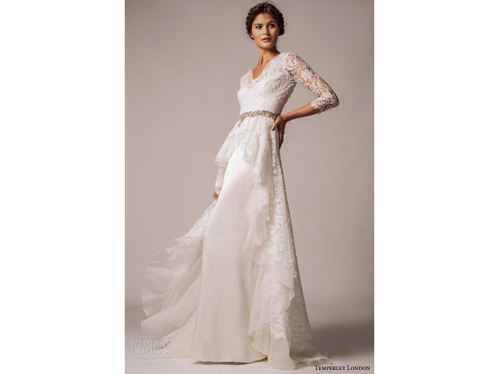 Temperley London Posey Lace & Silk Organza Gown, $1,250
