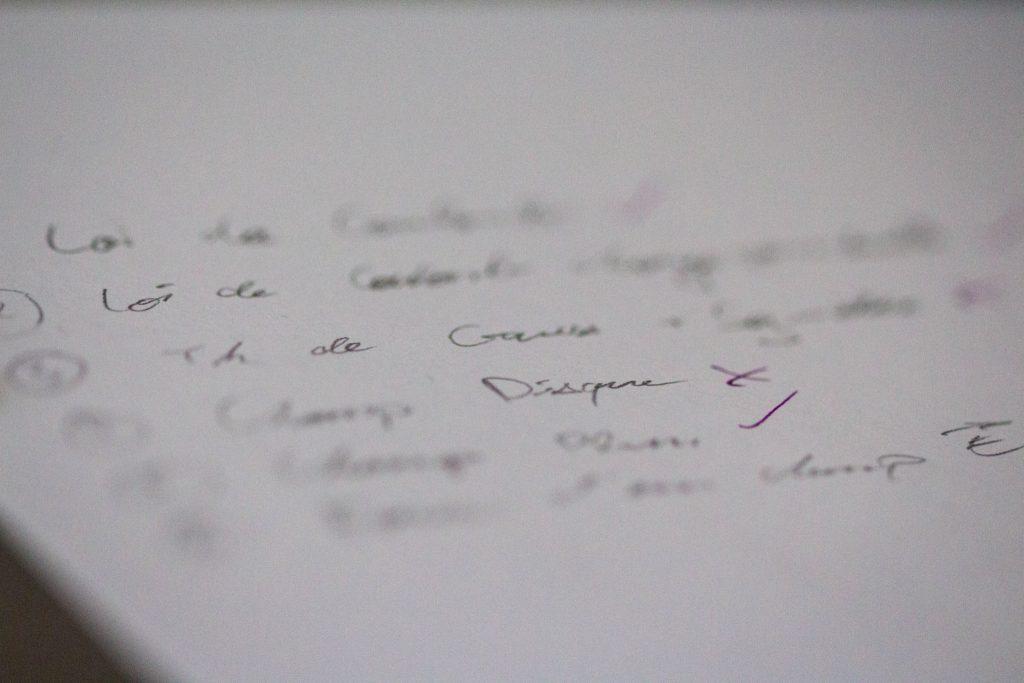 Liste de points à apprendre méthode de travail en prépa scientifique