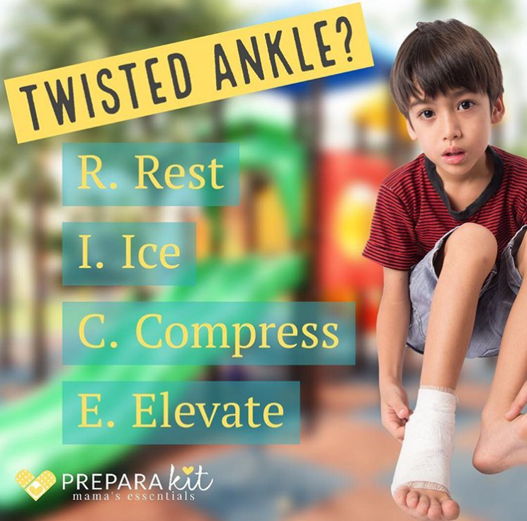 Have You R.I.C.E'd a Twisted Ankle? - PreparaMom