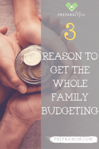 Pin image for family budgeting