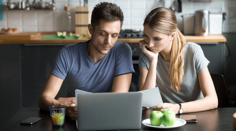 a couple learn budgeting together