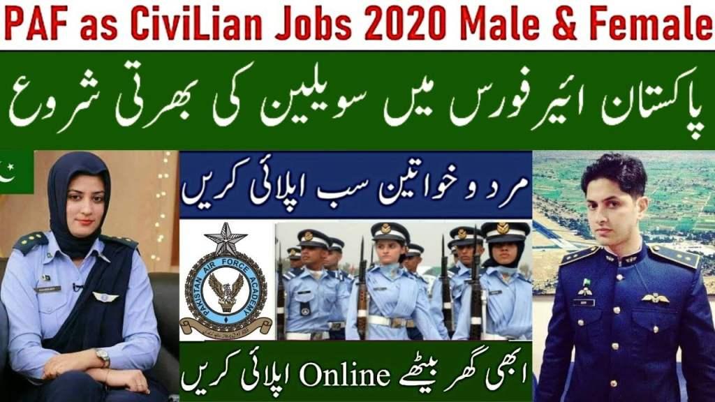 800+ PAF Civilian Jobs September 2021 - www.paf.gov.pk jobs apply online 2021