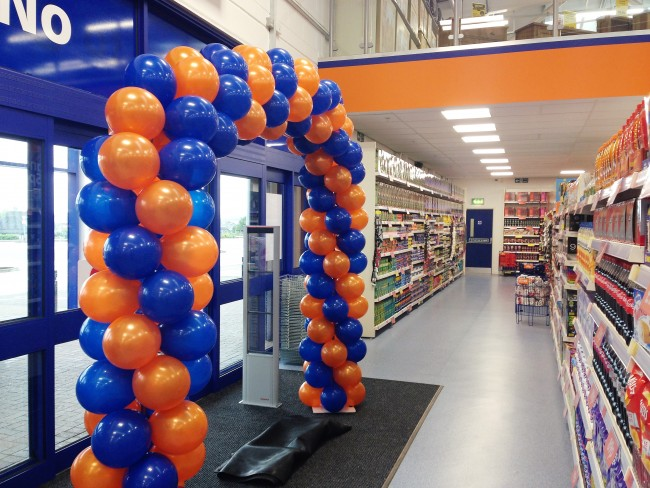 Sapphire Blue And Orange Spiral Balloon Arch Balloon Gallery