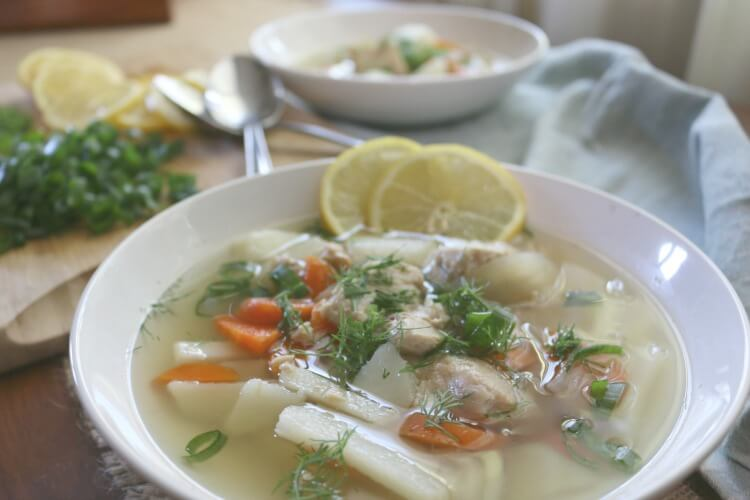 Nourishing Fish Soup - incredibly healthy made with wild fish stock. It's an economical way to get more nutrition in your diet. Whole30 and can easily be adapted to suit Paleo and GAPS diets.