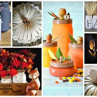 24 Mason Jar Crafts for Fall