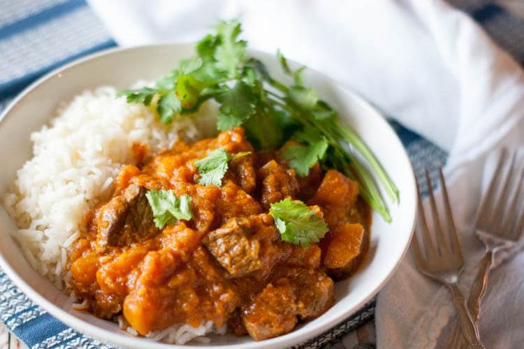 Pressure Cooker Lamb and Squash Curry (Paleo, Whole30, GAPS)