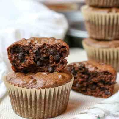Flourless Double Chocolate Muffins (Paleo, GAPS)