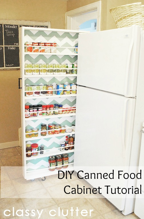diy canned food cabinet tutorial