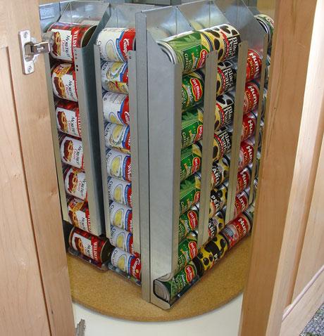 lazy susan food storage rack