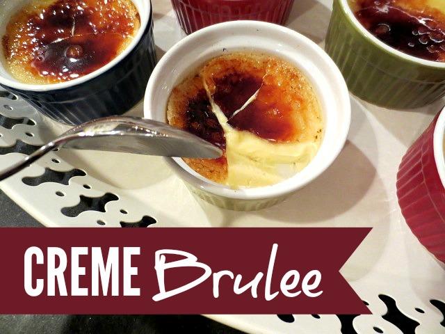 Creme Brûlée using the HERC Oven