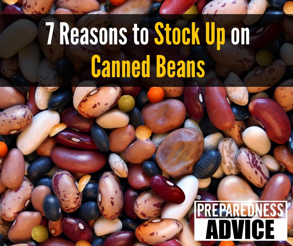 stock up on canned beans
