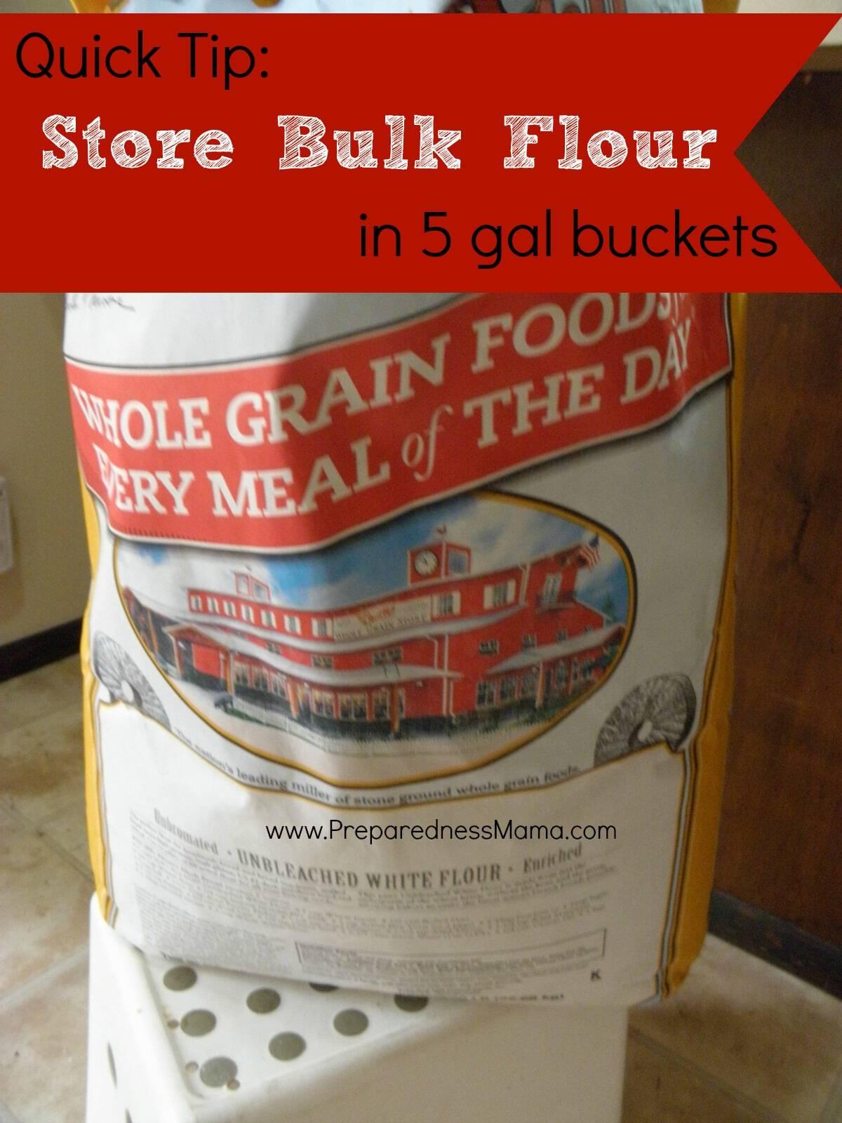 Quick Tip Store Bulk Flour PreparednessMama