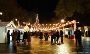 New Year's Market on Fountains Square, Baku, Azerbaijan
