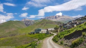 Road to Khinalug (Xinalig) – one of the oldest villages in the world