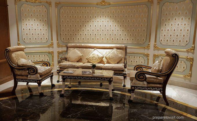 Lounge sets at Shamakhi Palace Sharadil Mountain Resort, Azerbaijan