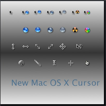 New Mac OS X Animated Mouse Cursors