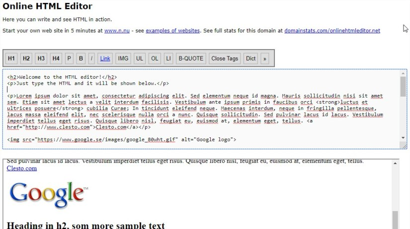 Online HTML Editor Real time online