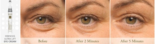 Éminence Hibiscus Ultra Lift Eye Cream Before and After at Slow Beauty Eco Salon, Canberra