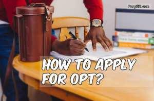 OPT Application