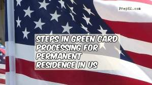 Steps in Green Card Processing for Permanent Residence in US