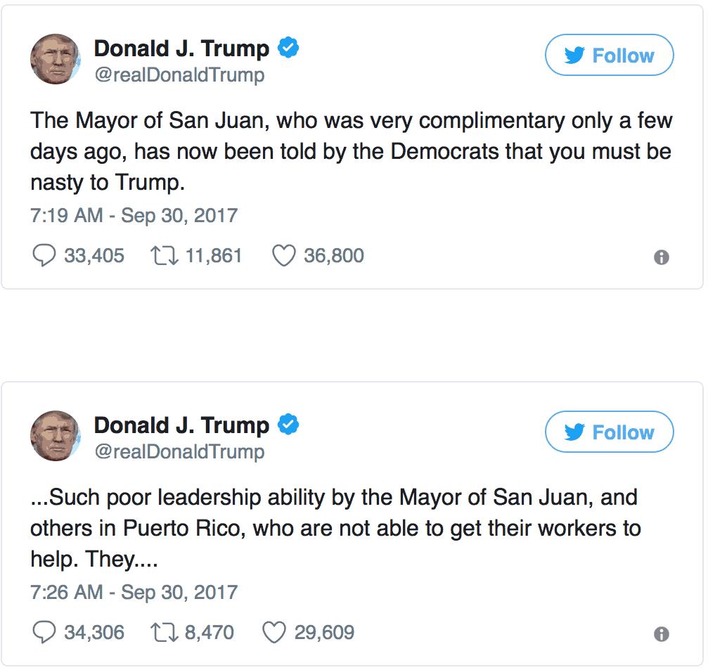 trump puerto rico tweets