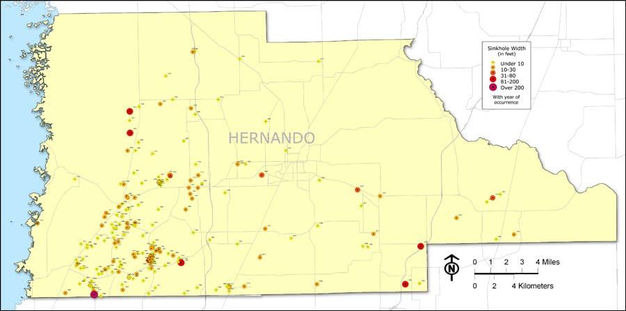Hernando Florida Sinkhole Map Prepforthat