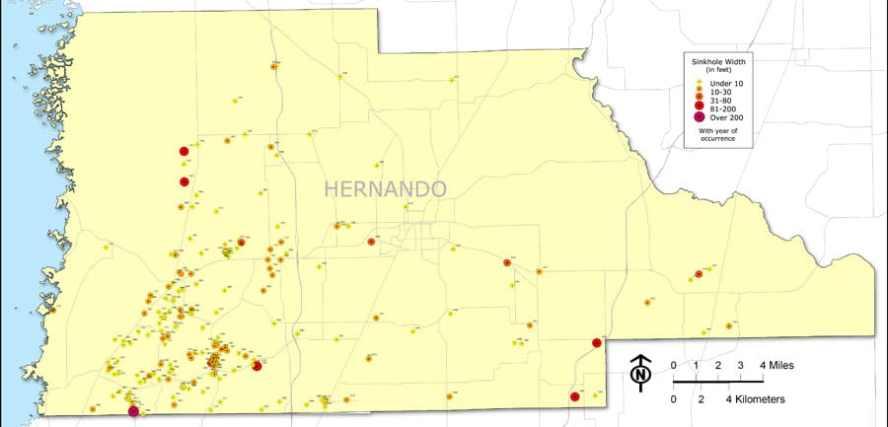 hernando florida sinkhole map - PrepForThat