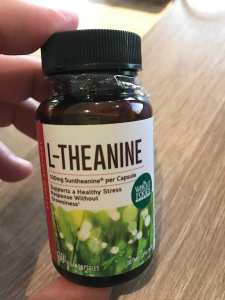l-theanine caffeine withdrawal