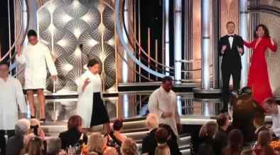 Golden Globes Gives Mass Flu Shots Live On Air In Weird Segment