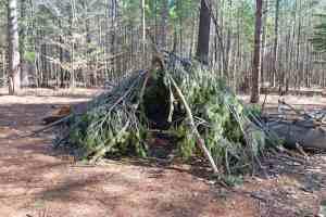 survival debris shelter