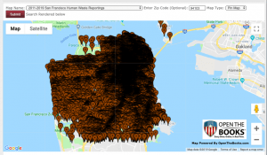 human feces map san Francisco