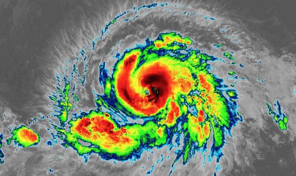 hurricane barbara satellite