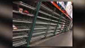 coronavirus supplies out at costco