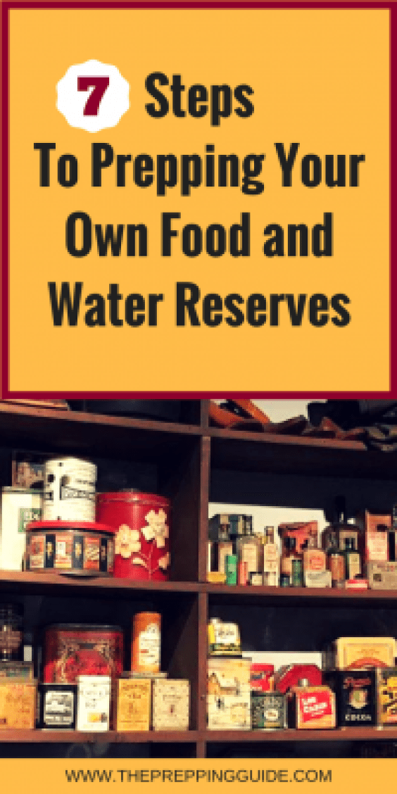 Prepping food and storing water