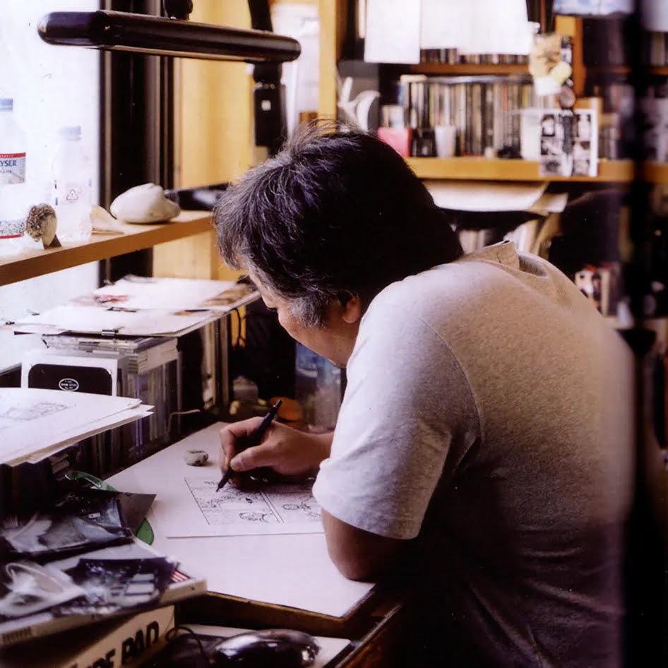 Katsuhiro Otomo en plein séance créative.