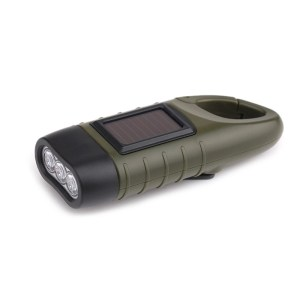 Dynamo solar LED torch with built in karabiner