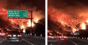 """""""Like Driving Into Hell"""" – Los Angeles' 405 Freeway Shutdown As Wildfires Spread"""