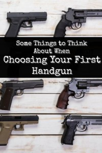 Some Things to Think About When Choosing Your First Handgun
