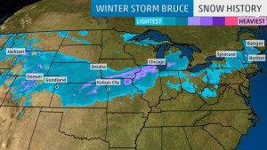 Winter Storm Bruce Brings Snow to Upstate New York, Northern New England After a Weekend Plains, Midwest Blizzard