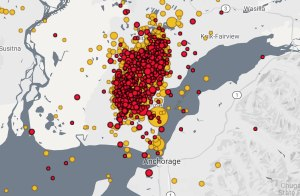 Update: Nearly 1,400 aftershocks have been measured since Friday's 7.0 earthquake in Alaska
