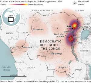 Ebola spreads to a major Congo city, Butembo, as vaccines a concern