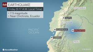 Powerful 7.5 magnitude earthquake strikes Ecuador
