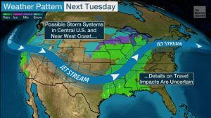 Thanksgiving Travel Forecast: Rain, Snow May Cause Delays This Weekend; A Pair of Systems May Bring Headaches Next Week