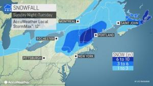 Pair of storms to bring snow to the Midwest, Northeast into Monday night
